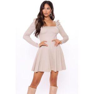Fashion Nova Sara Sweater Mini Dress